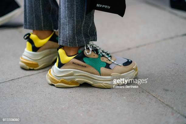 Balenciaga sneakers shoes during London Fashion Week Men's June 2018 on June 09 2018 in London England