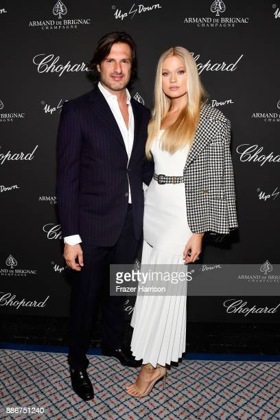 Balerio Morabito and Vita Sidorkina attend Creatures Of The Night LateNight Soiree Hosted By Chopard And Champagne Armand De Brignac at The Setai...