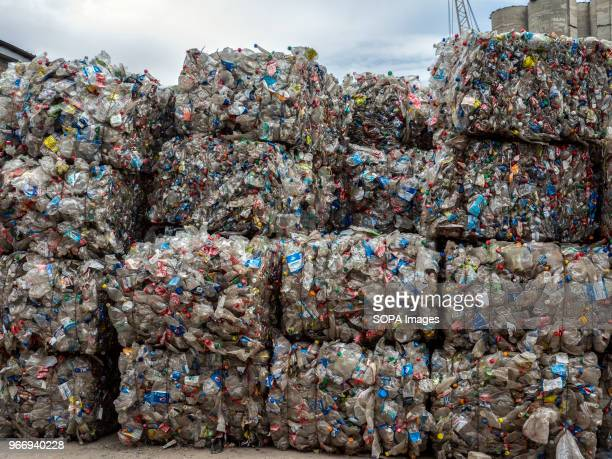 Bales of recycled used bottles In Ukraine enterprises for the processing of domestic waste are actively developing Several such factories operate in...