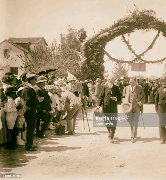 Balfour at Richon 1925 Balfour Arthur James Balfour 18481930 Arches Middle East Israel and/or Palestine