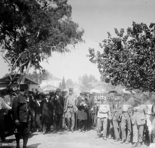 Balfour visiting Jewish colonies Palestine Arthur James Balfour British Conservative politician and statesman UK Prime Minister
