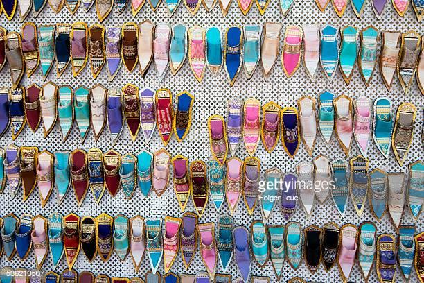 Balgha shoe replicas for sale at souvenir stand