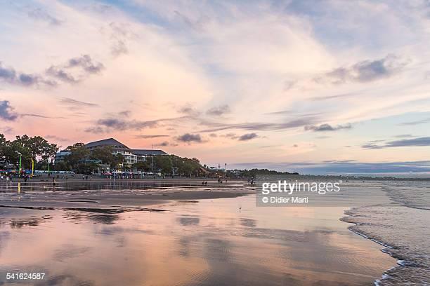 Bali sunset on a beach