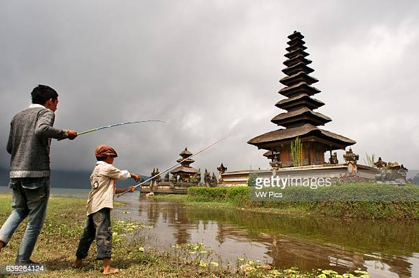 Bali Temple On A Lake Pura Ulun Danu Bratan Indonesia Pura Ulan Danu Bratan Temple in Bedugul It was built in 1633 by the King of Mengwi in honor of...