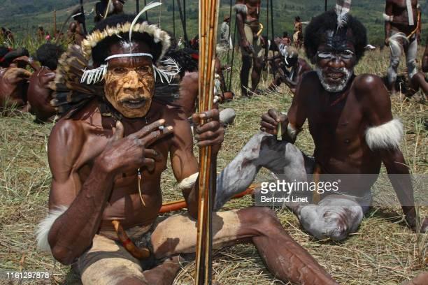 baliem festival in wamena - west papua - penile sheath stock photos and pictures