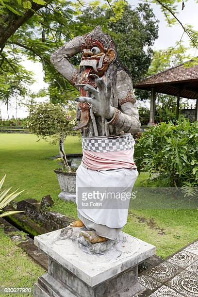 KARANGASEM BALI INDONESIA DECEMBER 23 A balinese figure at the Taman Tirta Gangga Water Palace on December 23 2016 in Karangasem Bali Indonesia