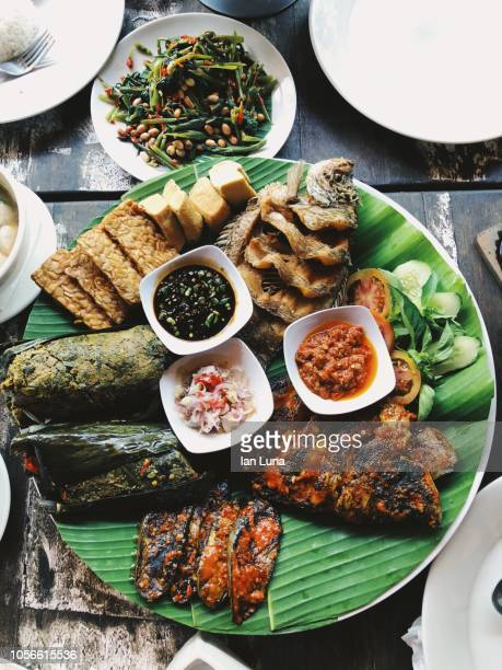 balinese food - indonesian culture stock pictures, royalty-free photos & images