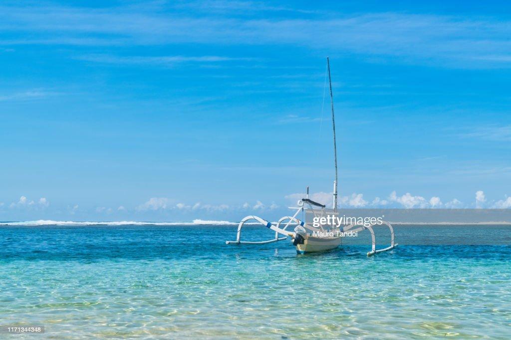 Balinese jukung fishing boat : Foto stock