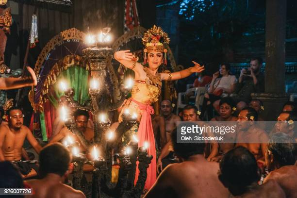balinese kecak dance  performance - indonesian culture stock pictures, royalty-free photos & images