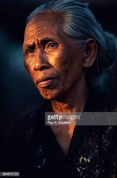 Balinese Mourner at Hindu Funeral