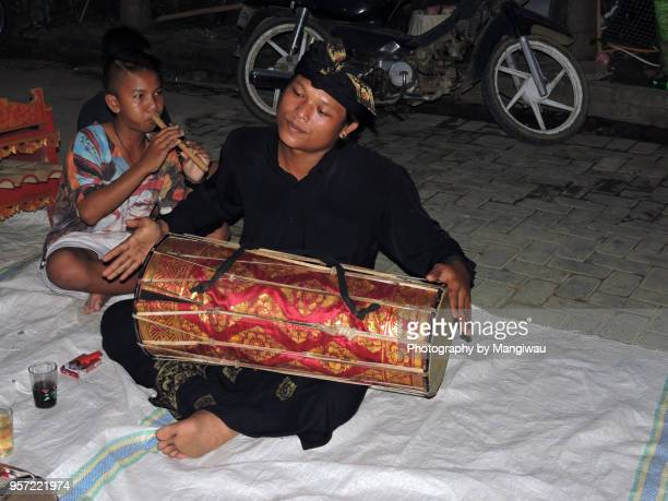 balinese music - traditional musician stock photos and pictures