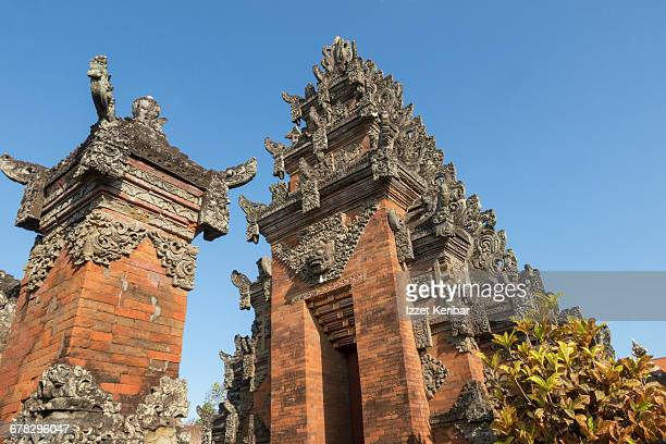 Balinese temple at Denpasar, Bali Indonesia