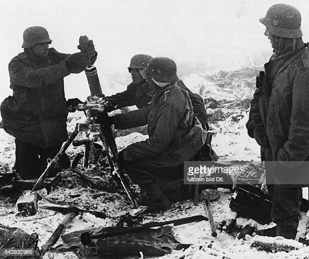 2WW Balkans campaign 'Operation Marita' from 06April 1941 on Greece 29April 1941 Theatre of warGerman mortaposition at the greek Metaxas defenceline...