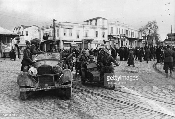 2WW Balkans campaign 'Operation Marita' from 06April 1941 on / Theatre of war First german troops in Thessaloniki 09April 1941