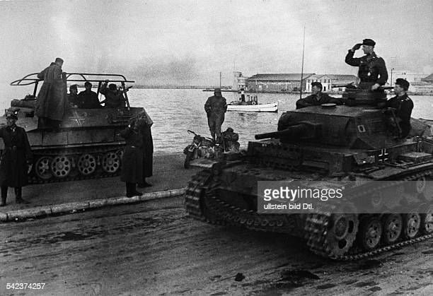 2WW Balkans campaign 'Operation Marita' from 06April 1941 on / Theatre of war German conquest of Thessaloniki 09April 1941The commanding officer...