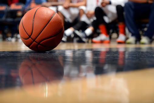 Ball and Basketball Court 174840705