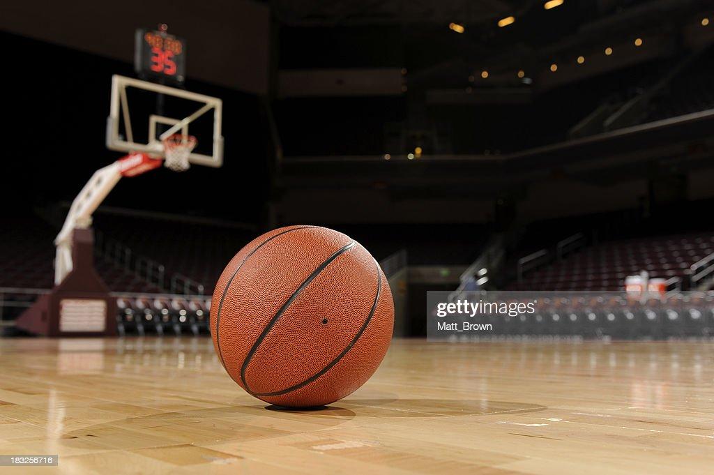 Ball and Basketball Court : Stock Photo