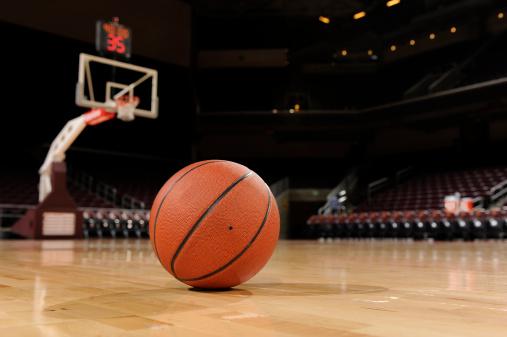 Ball and Basketball Court 183256716
