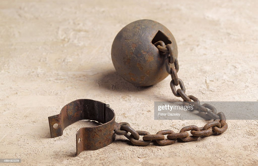 Ball and chain landscape : Stock Photo
