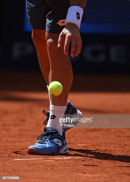 Ball are seen during the International German Open at Rothenbaum on July 26 2017 in Hamburg Germany
