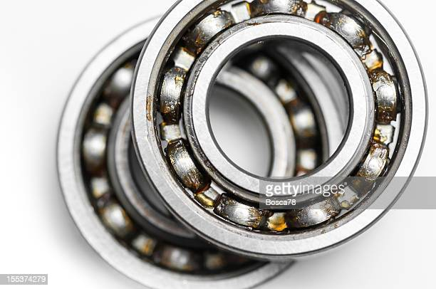 Ball bearing over white background