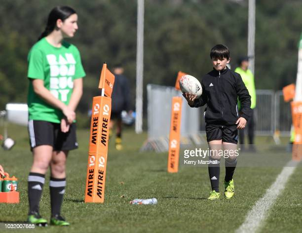 A ball boy in action during the Jock Hobbs Memorial National U19 Tournament on September 12 2018 in Taupo New Zealand