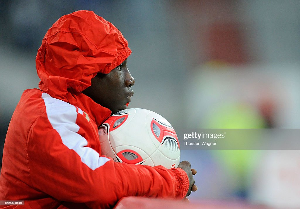 A ball boy is pictured during the Bundesliga march between Fortuna Duesseldorf and TSG 1899 Hoffenheim at Esprit-Arena on November 10, 2012 in Duesseldorf, Germany.
