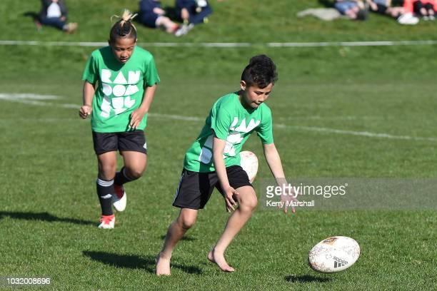 Ball boys during the Jock Hobbs Memorial National U19 Tournament on September 12 2018 in Taupo New Zealand