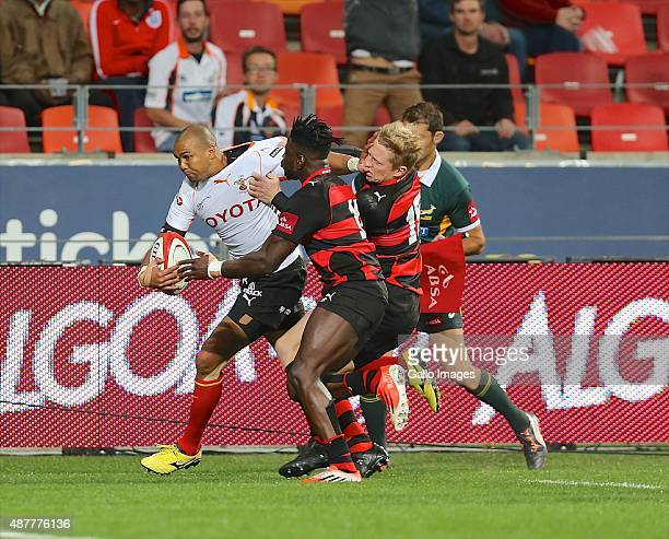 ball carrier Cornal Hendricks of Toyota Free State during the Absa Currie Cup match between EP Kings and Toyota Free State at Nelson Mandela Bay...