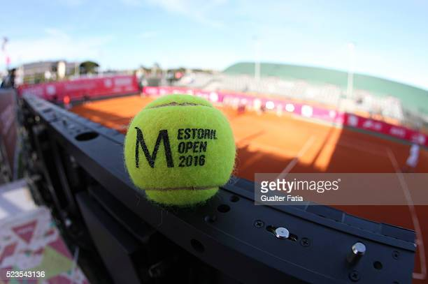 Ball during the match between Albert Montanes and Salvatore Caruso for Millennium Estoril Open at Clube de Tenis do Estoril on April 23 2016 in...