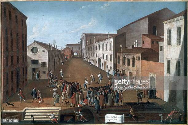 Ball game in the Jesuits's in Venice by Gabriele Bella QueriniStampiala Venice