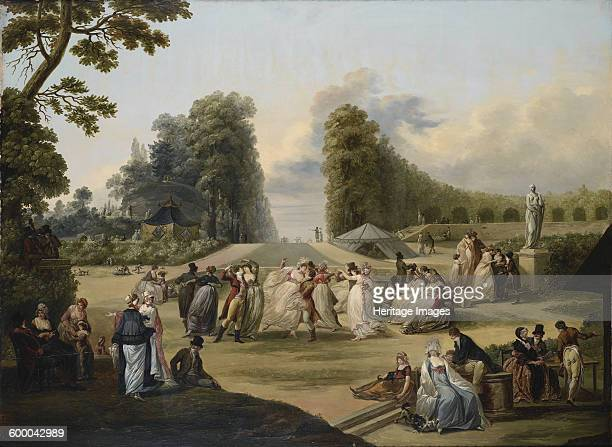 Ball in the Tivoli Gardens Paris 1799 Private Collection Artist Watteau FrançoisLouisJoseph