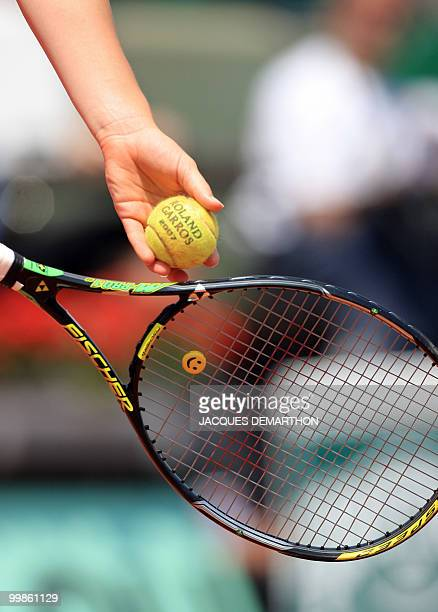 A ball is pictured during the French Tennis Open at Roland Garros 02 June 2007 in Paris AFP PHOTO / JACQUES DEMARTHON