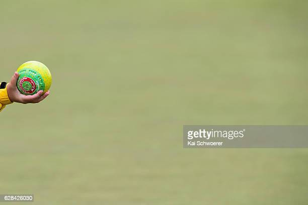 A ball is seen during the World Bowls Series on December 8 2016 in Christchurch New Zealand
