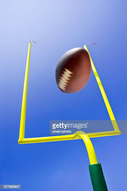 Ball kicked during field goal in game of American football