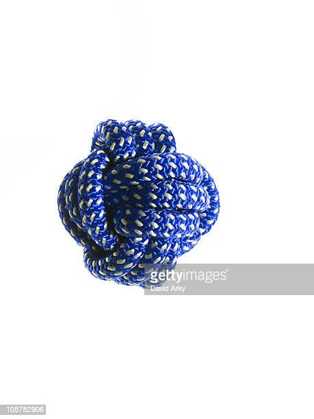Ball of blue rope
