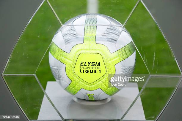 Ball of ligue 1 during the Ligue 1 match between Olympique Marseille and EA Guingamp at Stade Velodrome on November 26 2017 in Marseille