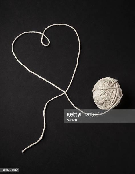 Ball of string making a heart shape