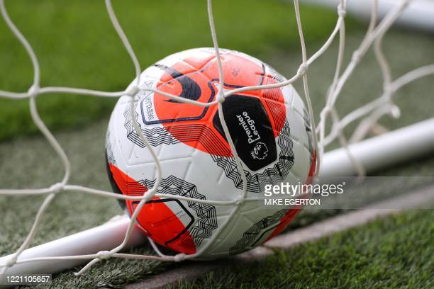 Ball of the match is pictured during the English Premier League football match between Norwich City and Southampton at Carrow Road in Norwich,...