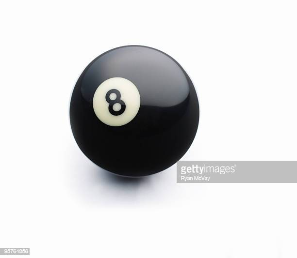 8 ball on white