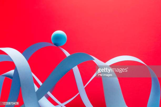ball riding paper roller coaster - strategy stock pictures, royalty-free photos & images