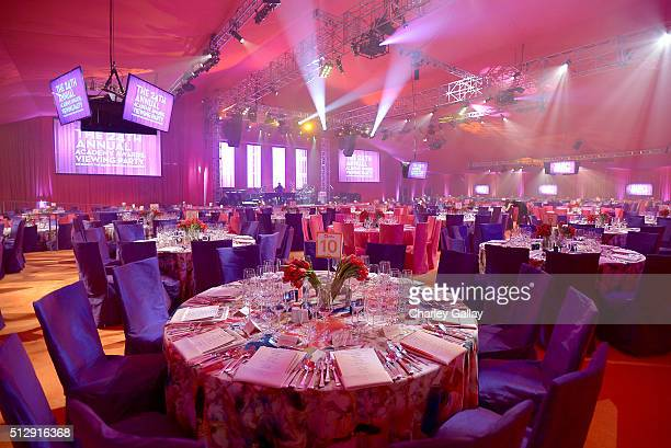 Ball room setting at Neuro at the 24th Annual Elton John AIDS Foundation's Oscar Viewing Party at The City of West Hollywood Park on February 28 2016...