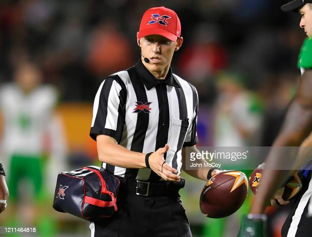 Ball Spotter Jace Carlson during a game between the Tampa Bay Vipers and LA Wildcats at Dignity Health Sports Park during an XFL game on March 8 2020...