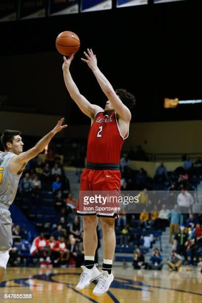 Ball State Cardinals guard Tayler Persons shoots a jump shot during a regular season basketball game between the Ball State Cardinals and the Toledo...