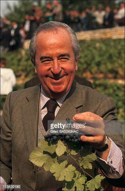 E Balladur Is The Harvest In Paris In The Park 'Georges Brassens'On October 6th 1991