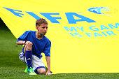 sochi russia ballboy looks ahead fifa