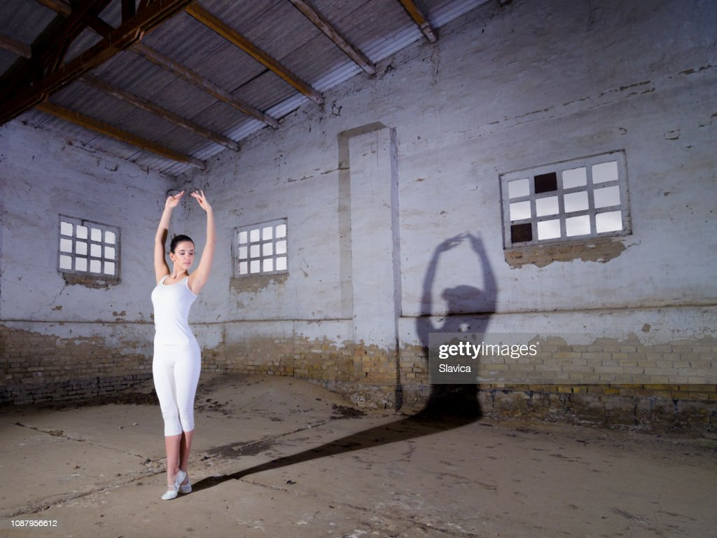 Ballerina Dancing In An Abandoned Building High Res Stock Photo Getty Images