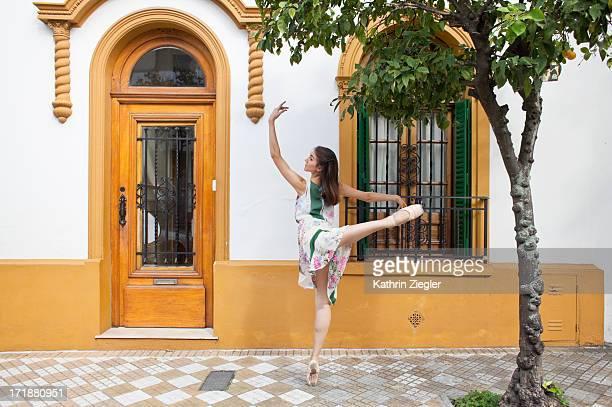 ballerina dancing in the streets