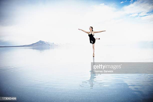 Ballerina dancing on water