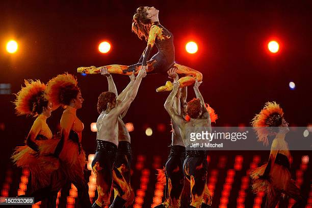 Ballerina Darcey Bussell perofrms with the Royal Ballet during the Closing Ceremony on Day 16 of the London 2012 Olympic Games at Olympic Stadium on...
